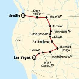 USA Road Trip Northwest National Parks