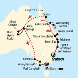 Australia Encompassed Sand Islands and Sunsets