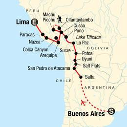 Buenos Aires to Lima Sacred Valley and Salt Flats