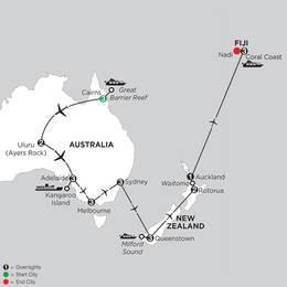 Aussie Adventure with Queenstown, Rotorua and Fiji (IPJG2020)
