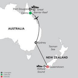 Great Barrier Reef and Sydney with Queenstown (IPKD2021)