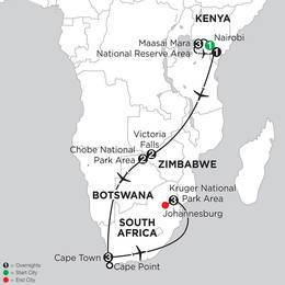 Jewels of Africa with Chobe National Park Area and Kruger National Park Area (IQBL2020)