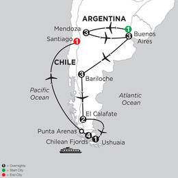 Argentina Highlights with Mendoza and Chilean Fjords Cruise (ISAE2020)