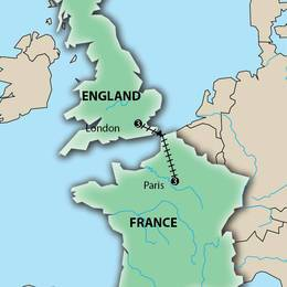 London and Paris Escapade by Rail Multi City Vacation