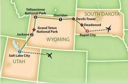 Yellowstone, Grand Tetons and Mt. Rushmore