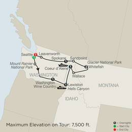 Discover Glacier National Park, Hells Canyon and Washington Wine Country (NS2020)