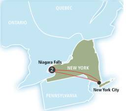 2-Nights Niagara Falls Getaway Roundtrip from New York City