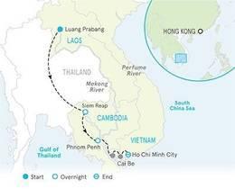 8-Nights Vietnam, Cambodia, Laos & Mekong River Cruise Bike Tour (Premiere Hotels & Ship)