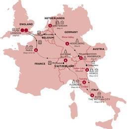 Highlights of Europe return Eurostar Small Group, Winter 2021 2022