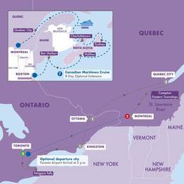 Best of Eastern Canada with Canadian Maritimes Cruise (Vista Suite)