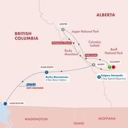 Canadas Rockies with Calgary Stampede
