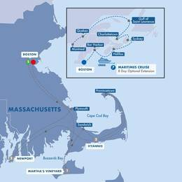 Cape Cod Delights with Canadian Maritimes Cruise Inside Stateroom