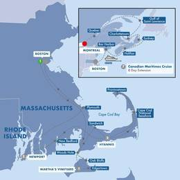Boston, Cape Cod, and Marthas Vineyard with Canadian Maritimes Cruise Ocean View Stateroom