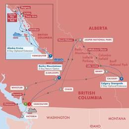 Iconic Rockies and Western Canada with Alaska Verandah Stateroom