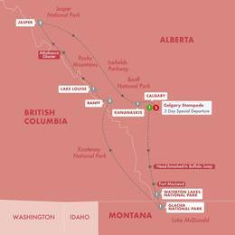 Secrets of the Rockies and Glacier National Park with Calgary Stampede