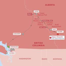 Spectacular Canadian Rockies with Calgary Stampede