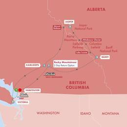 Spectacular Canadian Rockies with Rocky Mountaineer Silverleaf