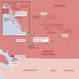 Spectacular Canadian Rockies with Rocky Mountaineer Silverleaf and Alaska Cruise Vista Suite