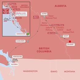 Spectacular Canadian Rockies with Alaska Cruise Vista Suite