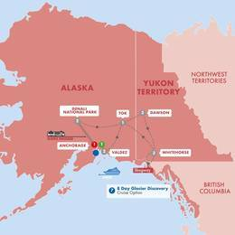 Alaska and the Yukon with Cruise Ocean View Stateroom