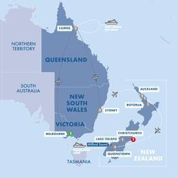 Contrasts of Australia and New Zealand