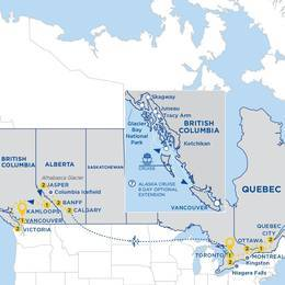 Canadas East to West with Alaska Cruise Vista Suite