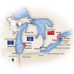Cruising the Great Lakes Chicago to Toronto Eastbound
