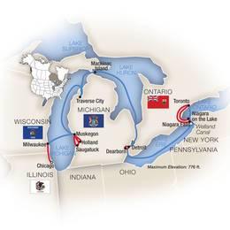 Cruising the Great Lakes Toronto to Chicago Westbound