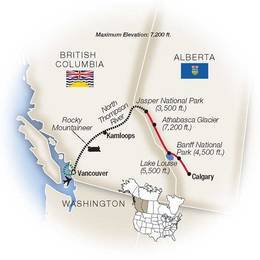 Vancouver and the Rockies by Rocky Mountaineer