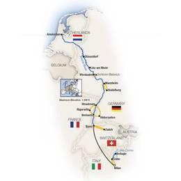 Rhine Enchantment, Milan to Amsterdam Northbound