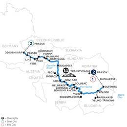 The Danube from Germany to the Black Sea with 2 Nights in Prague and 2 Nights in Transylvania (WDOE2021)