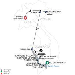 The Heart of Cambodia and Vietnam with Luang Prabang (Northbound) (WISL2020)