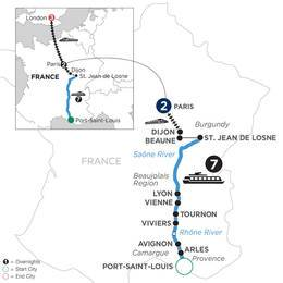 Burgundy and Provence with 2 Nights in Paris and 3 Nights in London (Northbound) (WLJ32021)