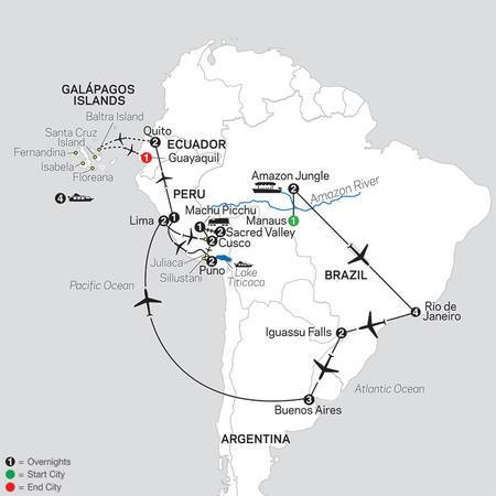 Ultimate South America with Brazils Amazon and Galapagos Cruise (12082021)
