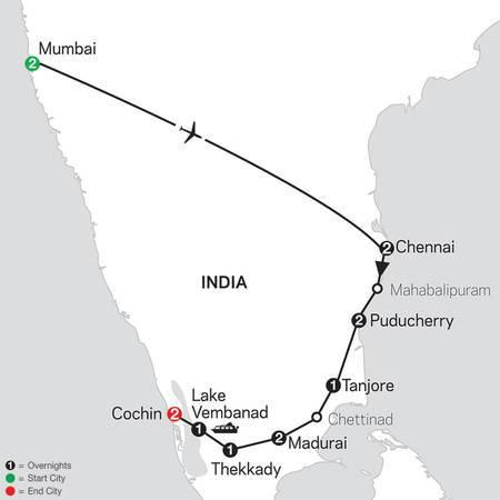 Discover Southern India and Kerala with Mumbai (26452020)
