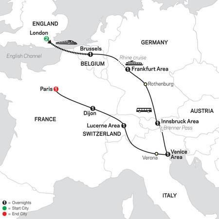 Seven Countries, Venice and Paris (4420 - 2021)