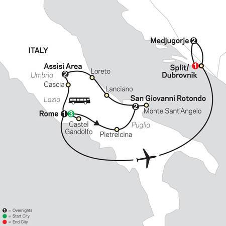 Spiritual Highlights of Italy with Medjugorje FaithBased Travel (53052021)