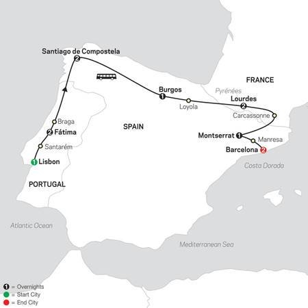 Fátima, Lourdes and Shrines of Spain FaithBased Travel (53102021)