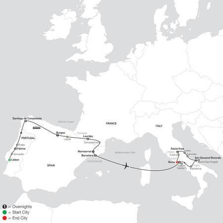 Spiritual Highlights of Iberia, Lourdes and Italy FaithBased Travel (5315 2021)