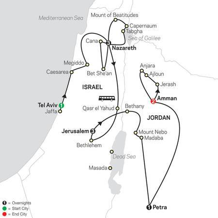 Holy Land Discovery with Jordan FaithBased Travel  Catholic Itinerary (53252021)