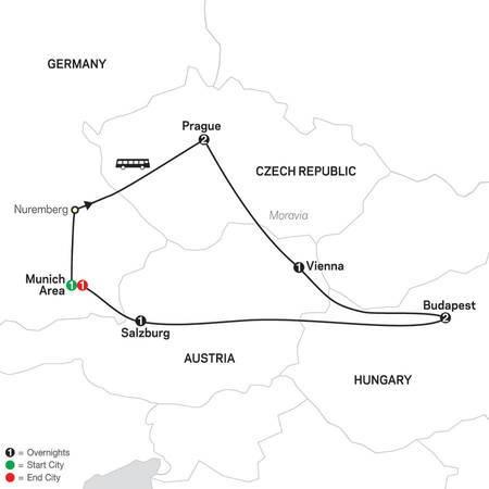Prague, Vienna and Budapest (60502020)