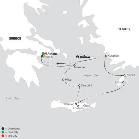 Athens and 7 Night Idyllic Aegean Islands Cruise in Outside Stateroom (66112020)