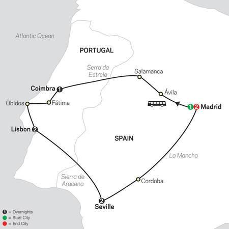 Lisbon, Seville and Madrid (67902020)