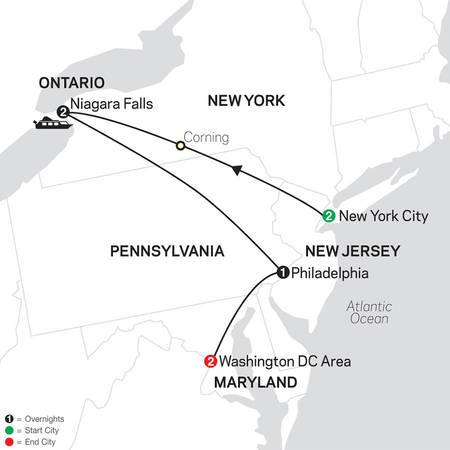 New York, Niagara Falls and Washington DC (80002020)