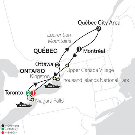 Ontario and French Canada with Extended Stay in Toronto (83372020)