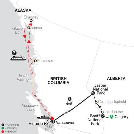 VIA Rail and the Canadian Rockies with Calgary Stampede and Alaska Cruise (84712020)