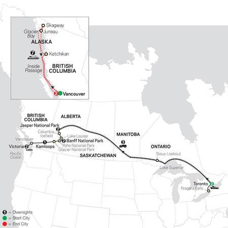 Canadian Train Odyssey with Alaska Cruise (89652021)