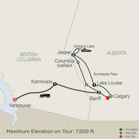 Great Resorts of the Canadian Rockies with the Rocky Mountaineer (CDE2020)