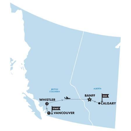 The Powder Rush(Twin Room,Start Vancouver, End Calgary)