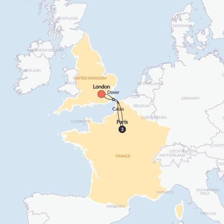 Paris For Christmas(Multi Share,Start London, End London)